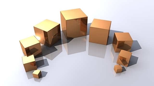 Different sizes of packages